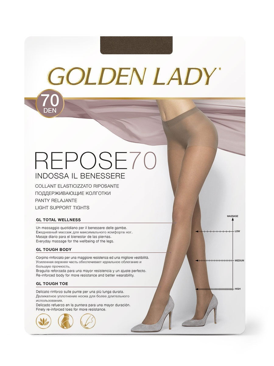 Колготки GoldenLady Repose70/marrone