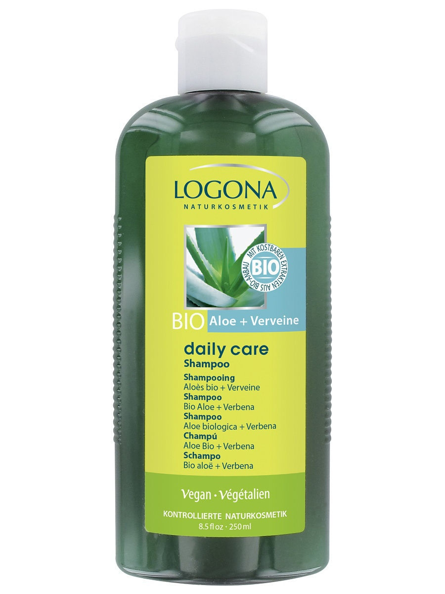 Шампуни Logona Daily Care Шампунь с Био-Алоэ и Вербеной гель для душа logona daily care shower gel organic aloe verbena объем 200 мл