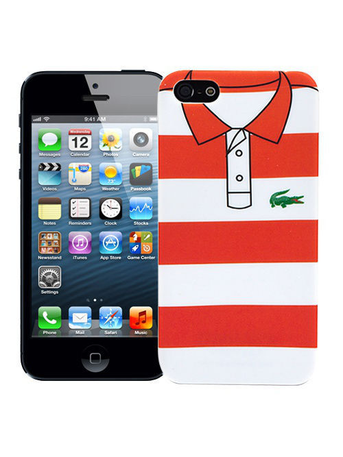 "Kawaii Factory Чехол для iPhone 5/5s ""Red and white stripes"", серия ""Sports shirt"""