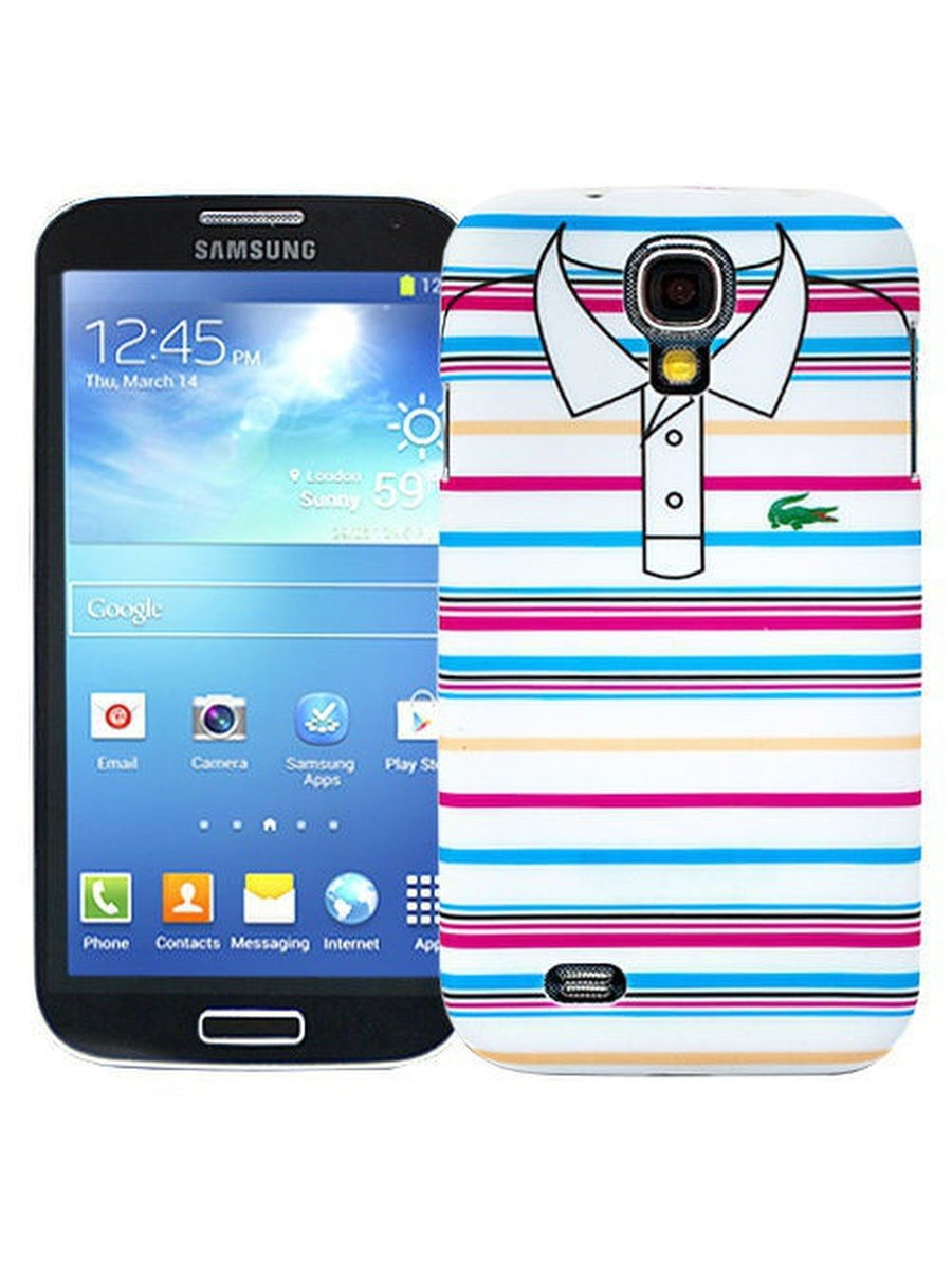 Чехлы для телефонов Kawaii Factory Чехол для Samsung Galaxy S4 Blue and pink stripes, серия Sports shirt pink galaxy