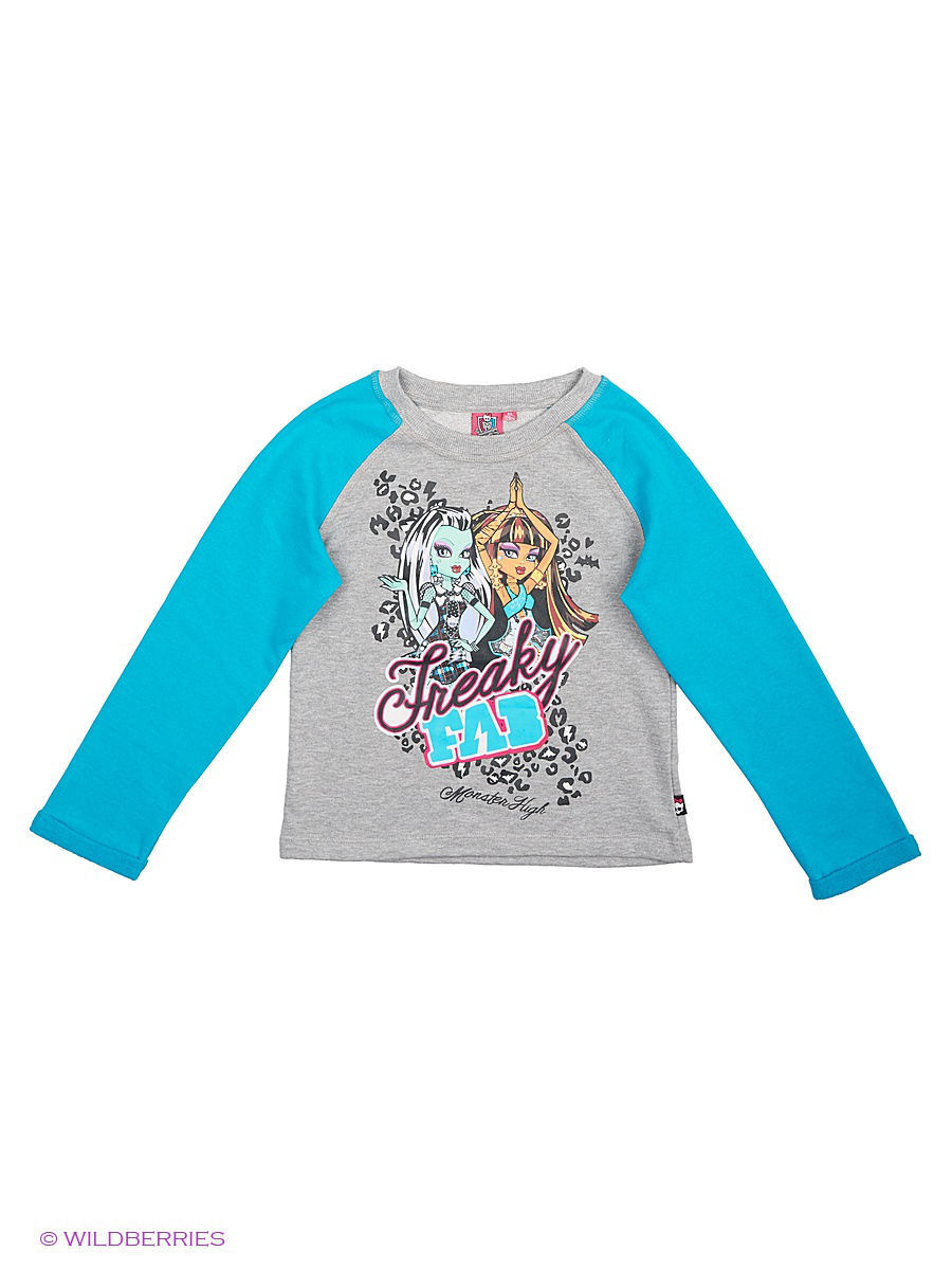 Толстовка Monster High MOH-1025/Blue/Lt.Graymelange