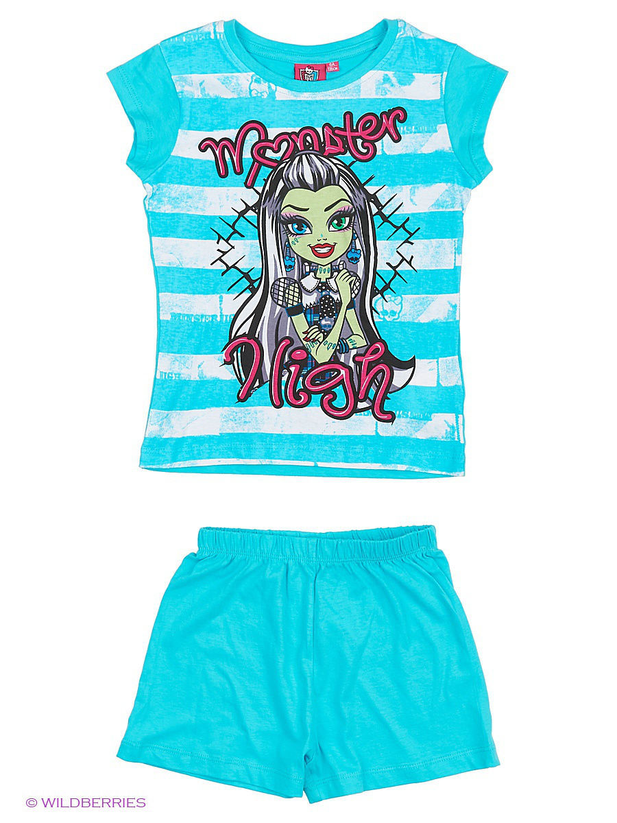 Пижама Monster High MOH-1453/White/Bluecuracao