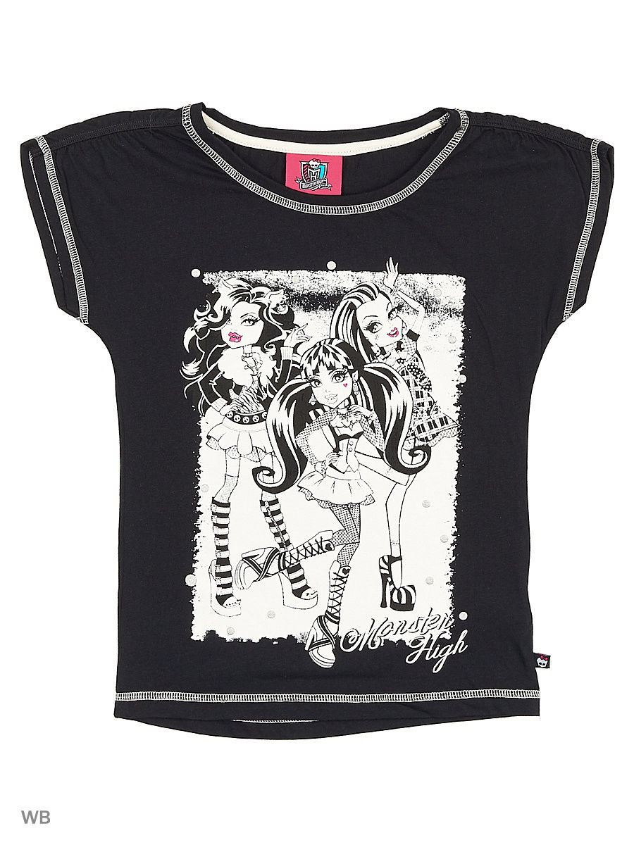 Футболка Monster High MOH-521/black
