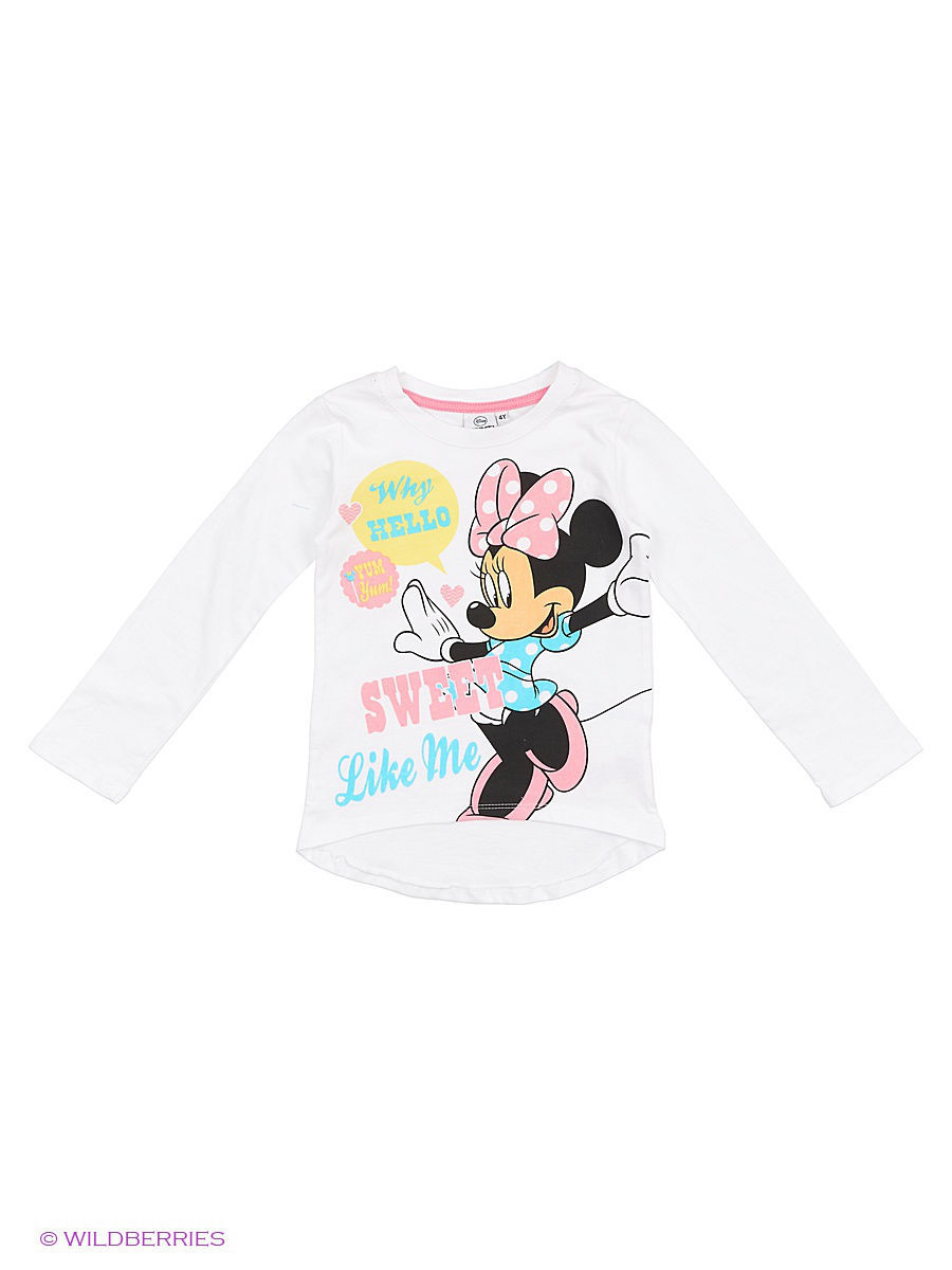 Водолазка Minnie Mouse DIS-9675/WHITE/SACHETPINK