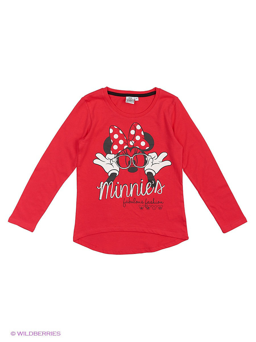 Водолазка Minnie Mouse MIN-1236/rosered1/black