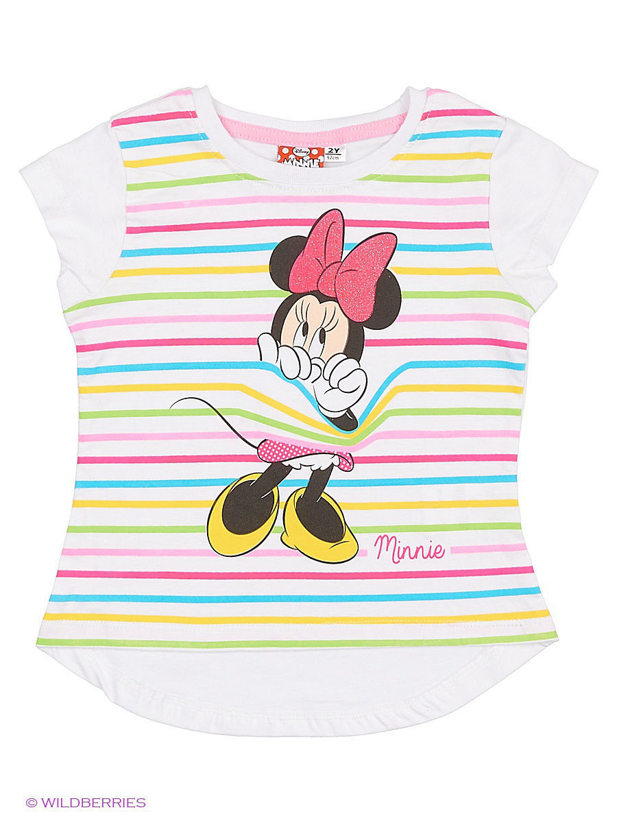 Футболка Minnie Mouse MIN-452/white/prismpink