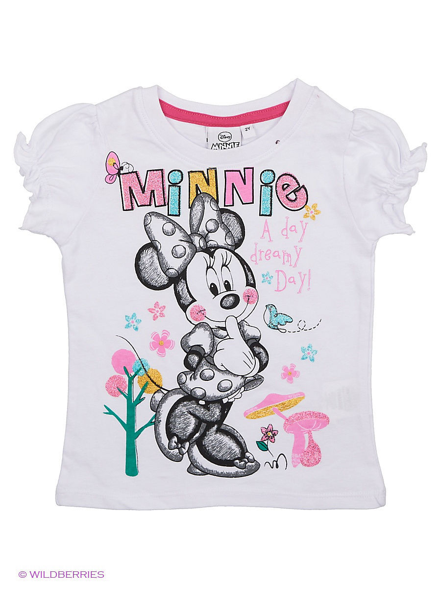 Футболка Minnie Mouse MIN-558/white/purple