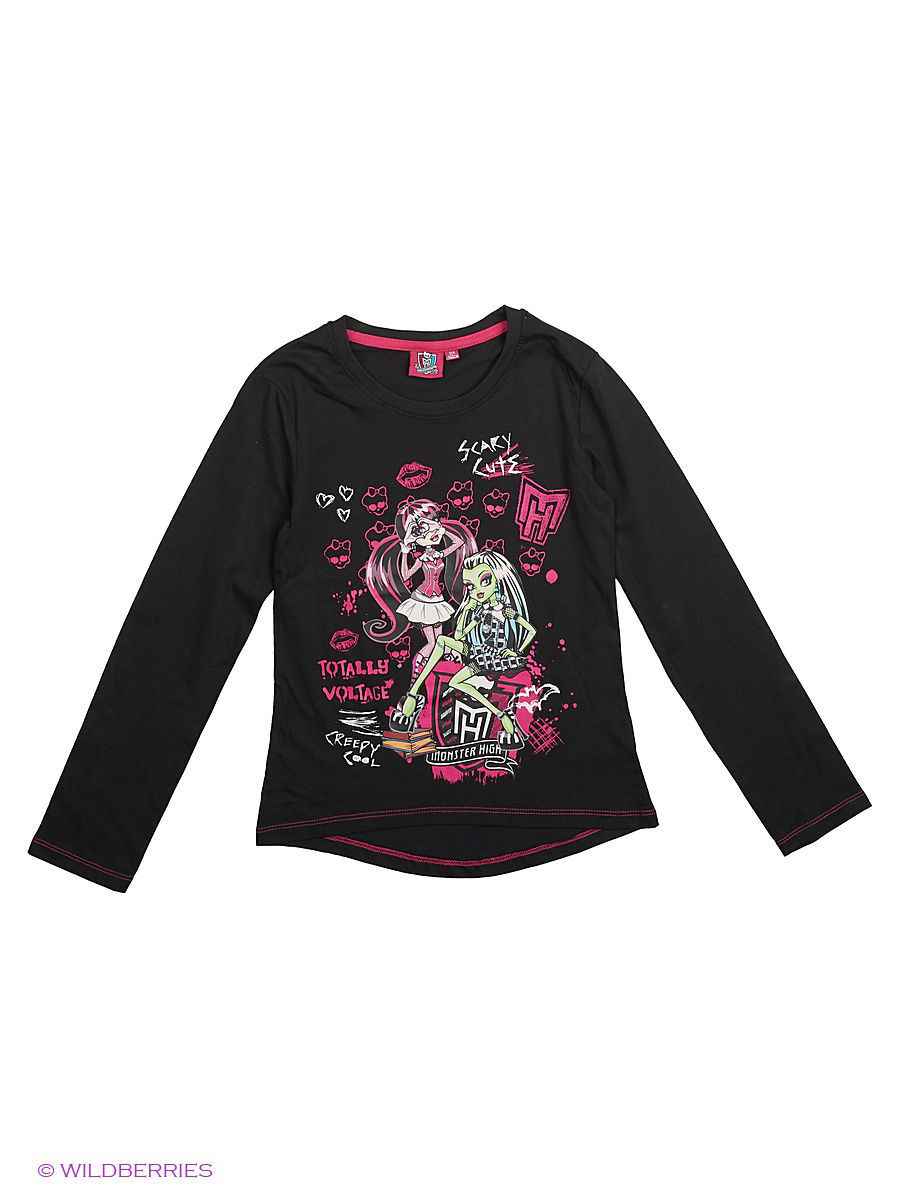 Лонгсливы Monster High MOH-789/Caviar/purple