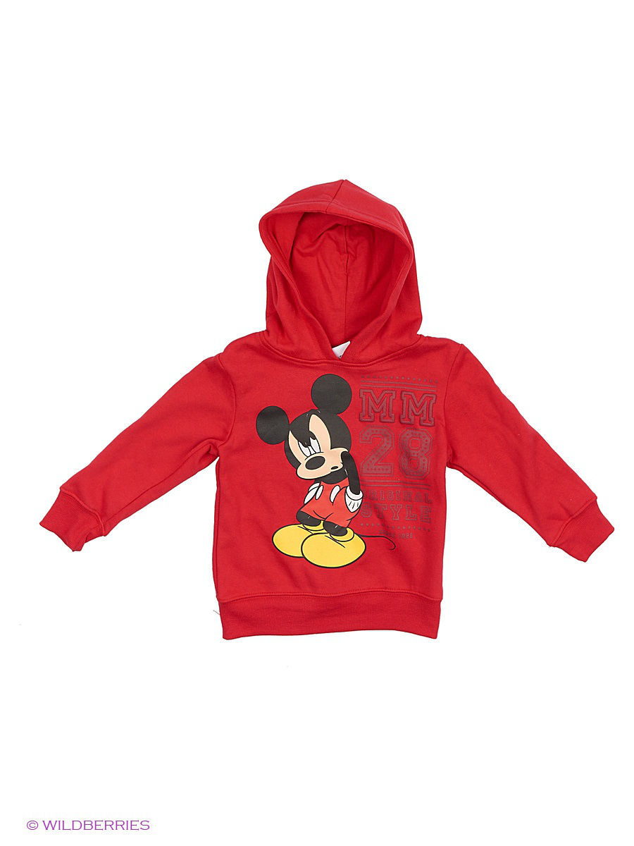 Толстовка Mickey Mouse DIS-9534/LIPSTICKRED/OLDGOLD