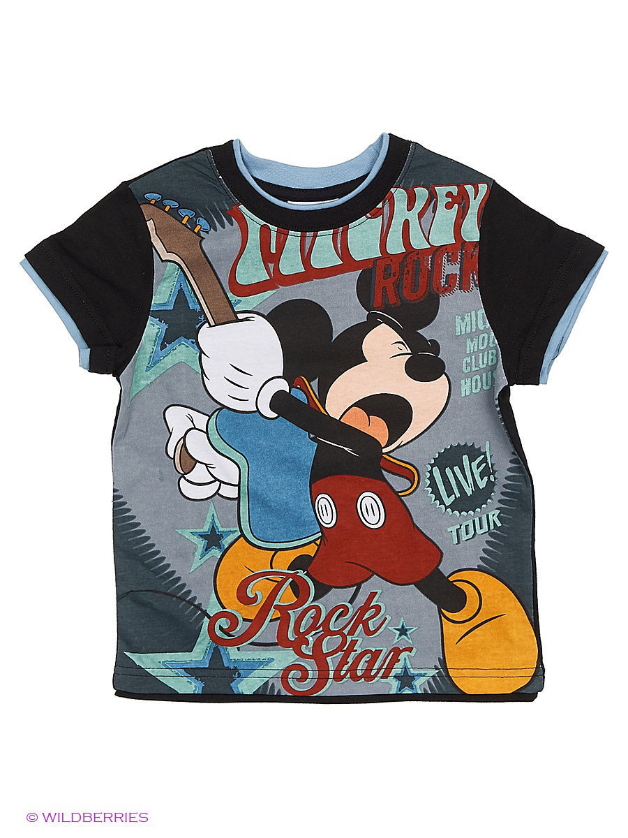 Футболка Mickey Mouse MIC-085/black/denim/white
