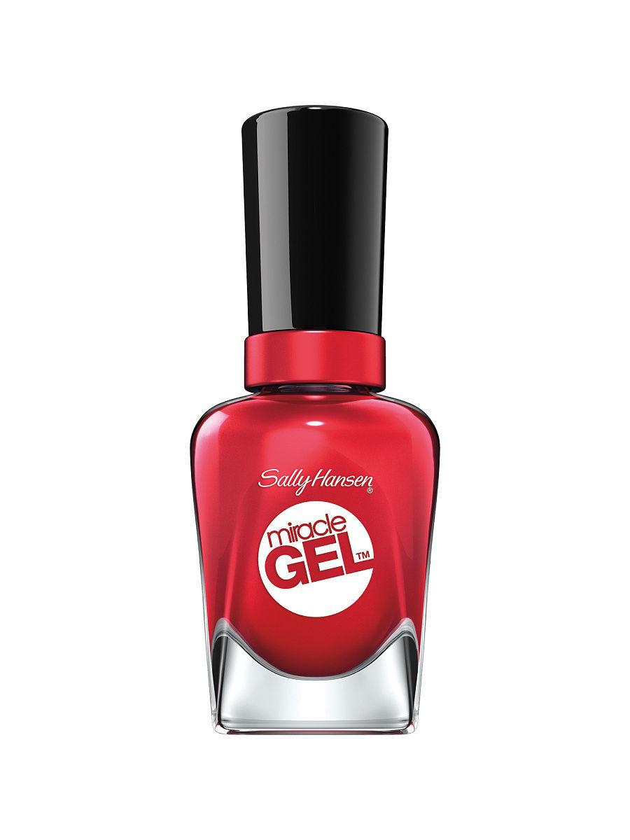 Гель-лаки SALLY HANSEN Гель-лак для ногтей Miracle Gel, тон Off with her Red! #444 гель лак для ногтей sally hansen miracle gel 444 цвет 444 off with her red variant hex name dc293e