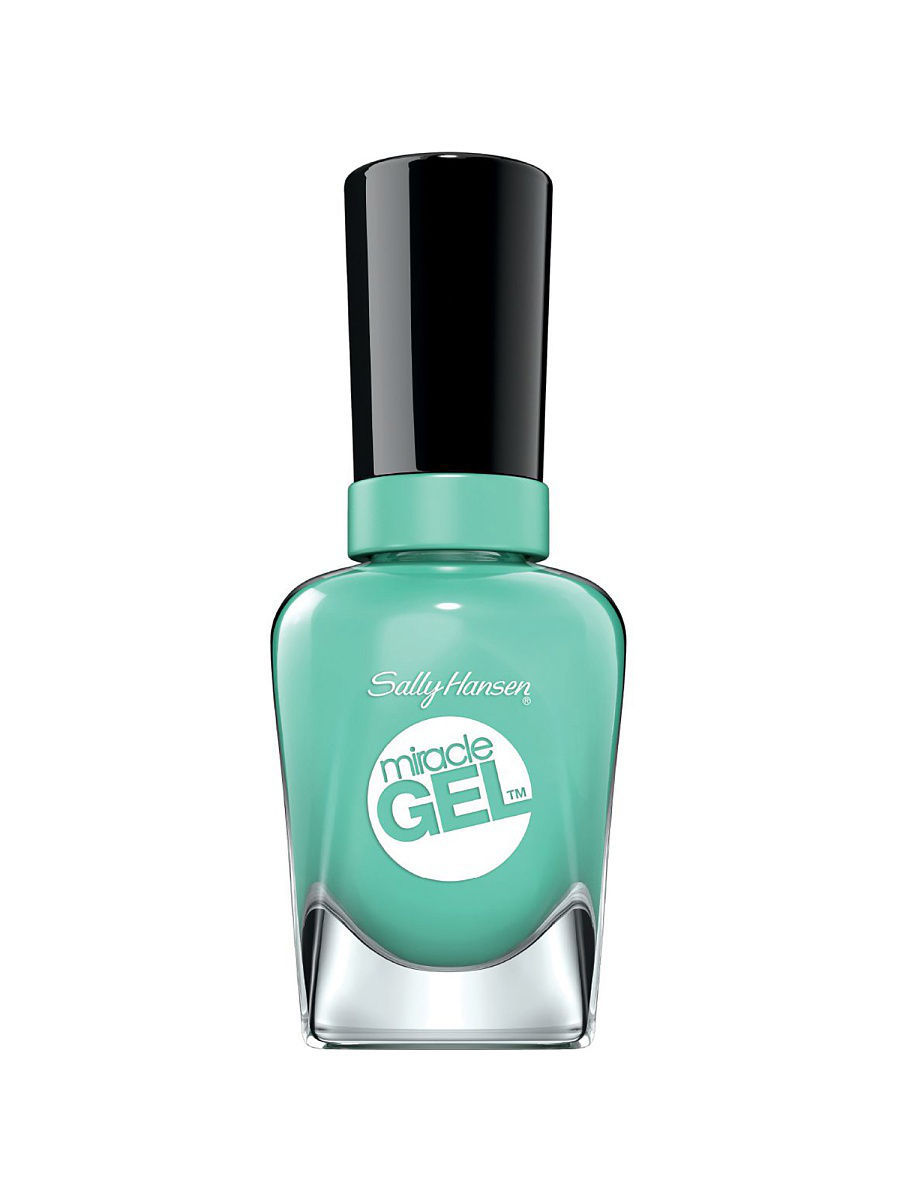 Гель-лаки SALLY HANSEN Гель-лак для ногтей Miracle Gel, тон Prince Char-mint #754 гель лак для ногтей sally hansen miracle gel 754 цвет 754 prince char mint variant hex name 77c9b8