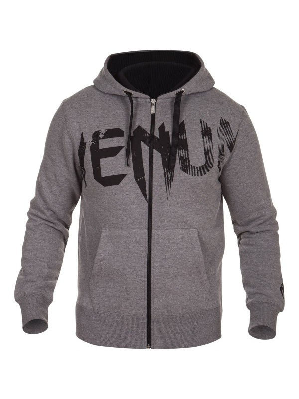 Толстовки Venum Толстовка Undisputed Hoody Grey - Black Logo ellesse toppo overhead hoody athletic grey marl