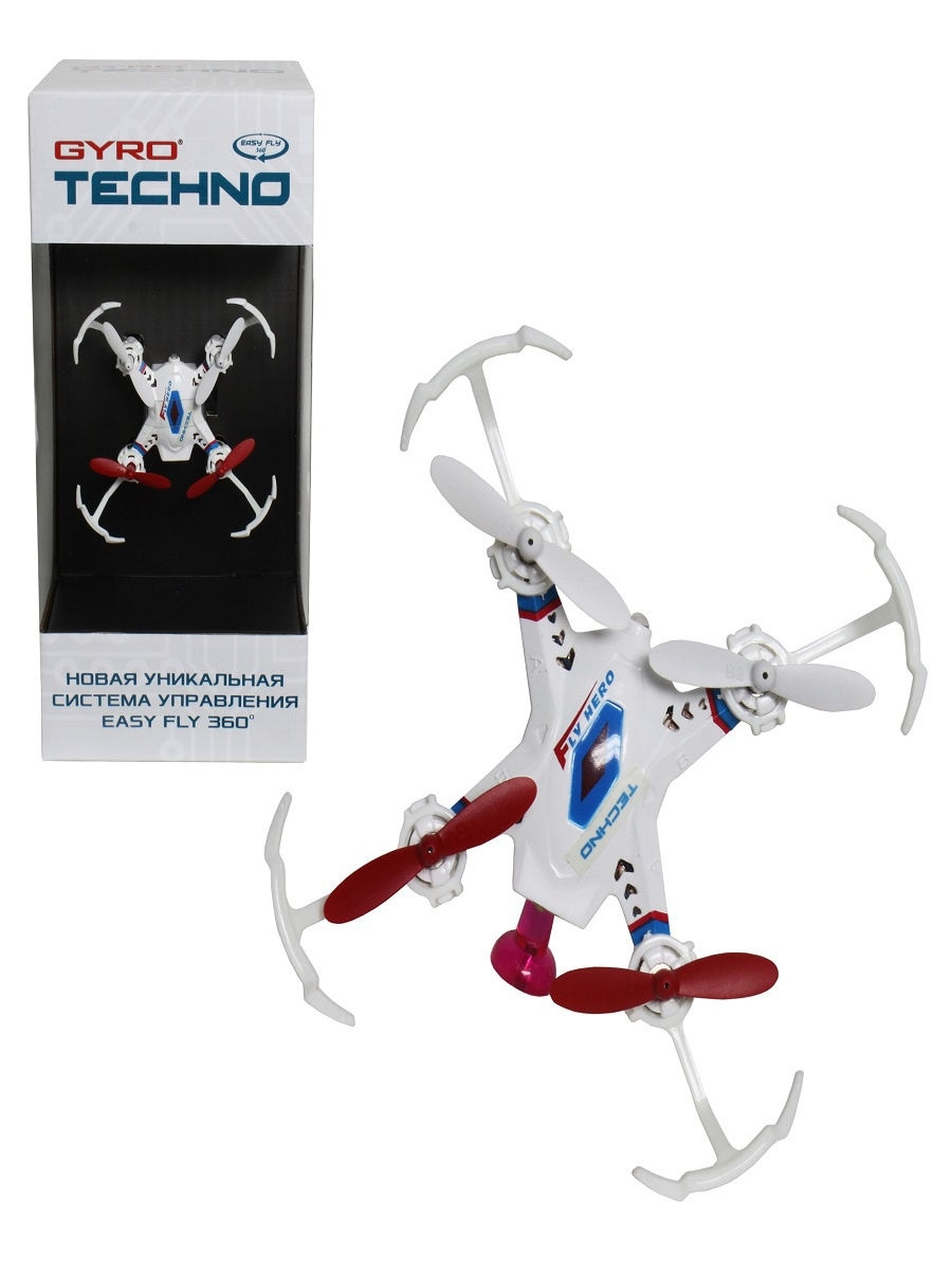 Квадрокоптер 1toy GYRO-Techno 2,4GHz 4 канала 4,5х4,5см, 6-осевой, real headless режим