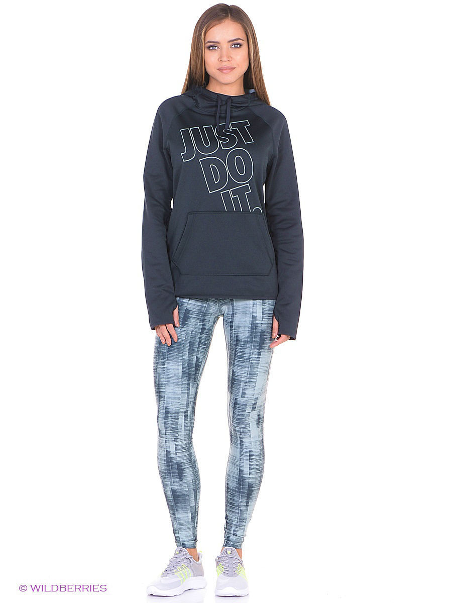 Тайтсы Nike Тайтсы W NK PWR LGND TGHT BRUSH PRINT водолазка conso wear conso wear co050ewyso43