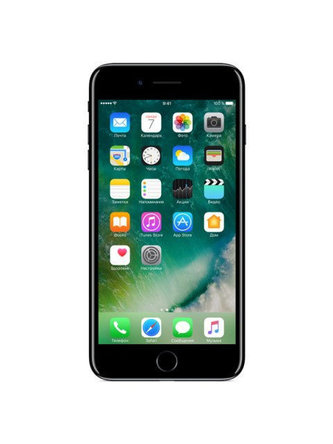 Смартфоны Apple Смартфон iPhone 7 Plus 128GB Jet Black смартфон apple iphone 7 32gb jet black mqtx2ru a