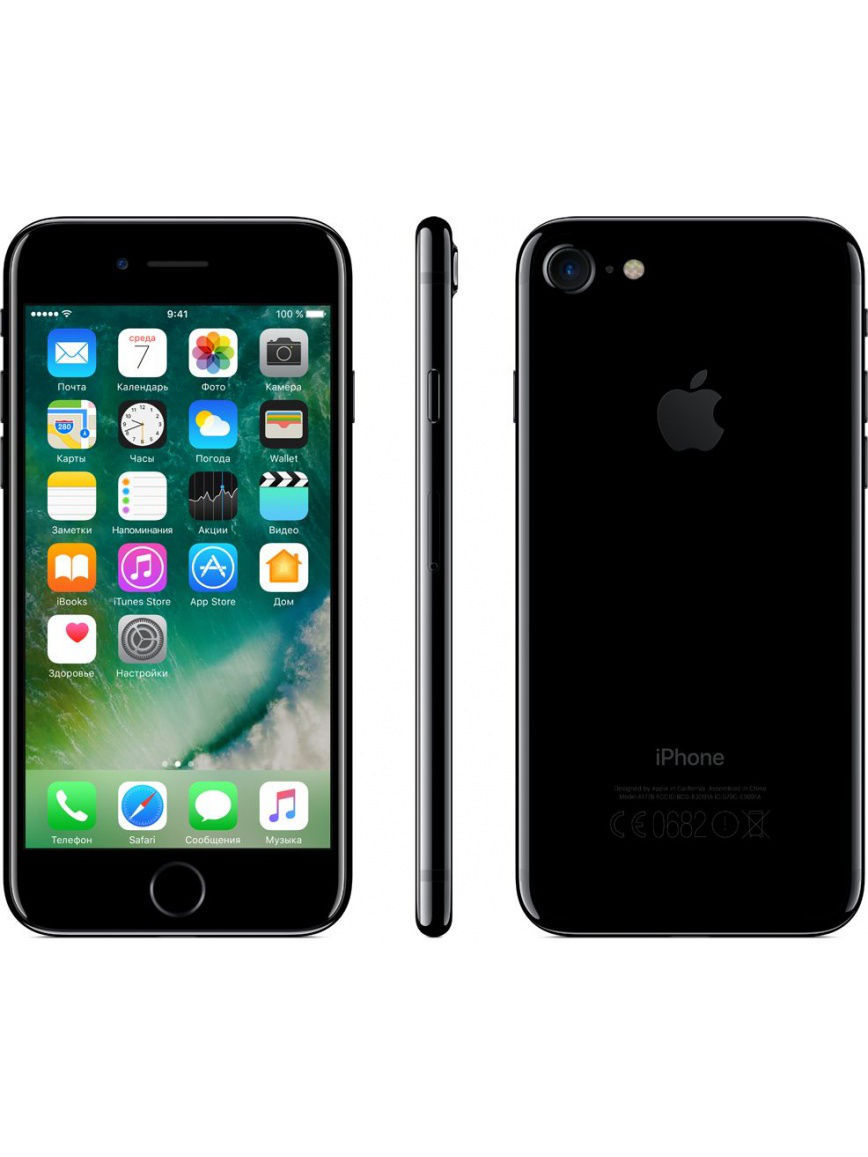 Смартфоны Apple Смартфон iPhone 7 128GB Jet Black смартфон apple iphone 7 plus 256gb jet black mn512ru a
