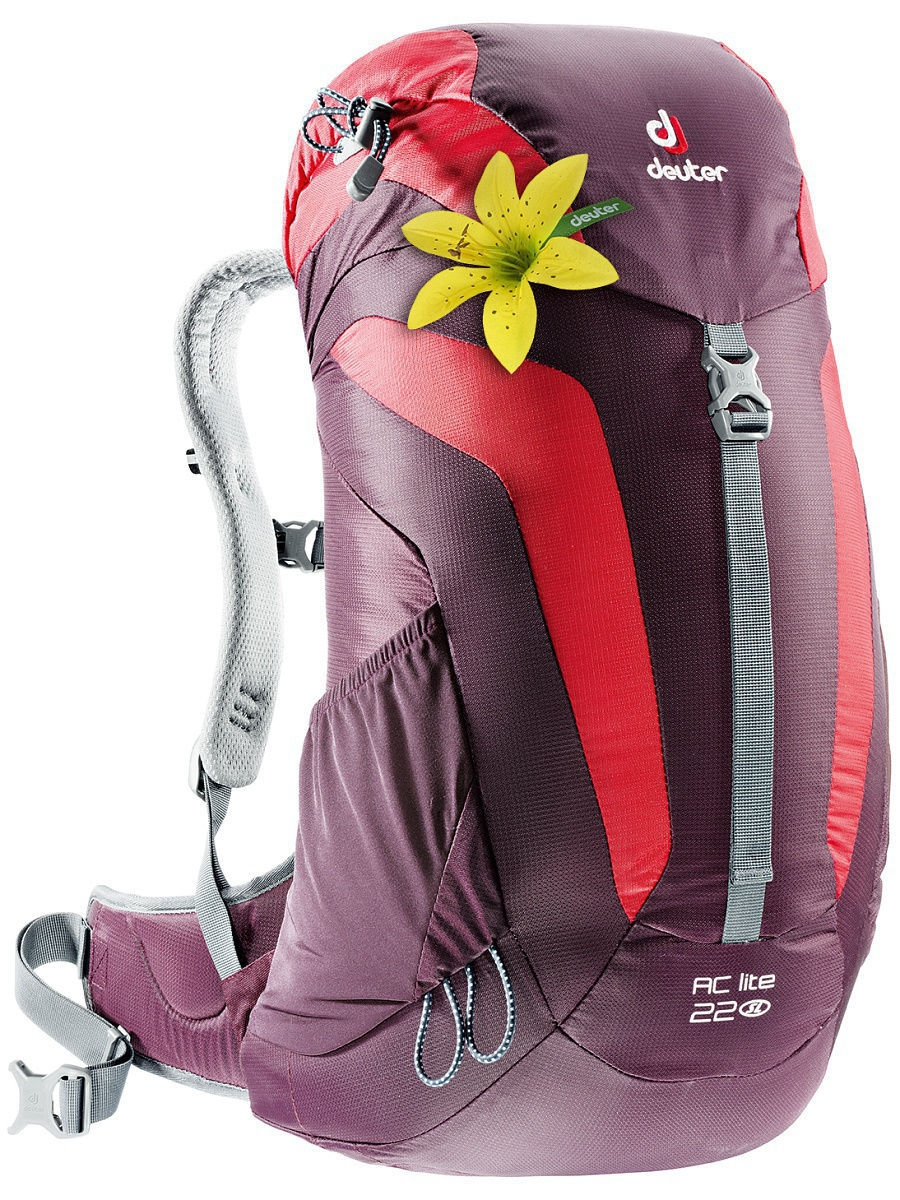 Рюкзаки Deuter Рюкзак AC Lite 22 SL aubergine-fire (б/р) сумки deuter сумка на плечо deuter 2016 17 tommy l dresscode black б р