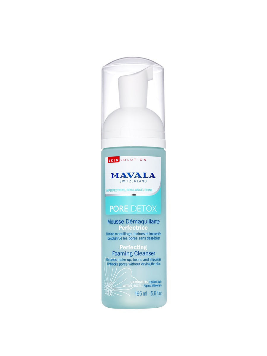 Пенки Mavala Mavala Очищающая Пенка Pore Detox Perfecting Foaming Cleanser 165ml 9054214 недорого