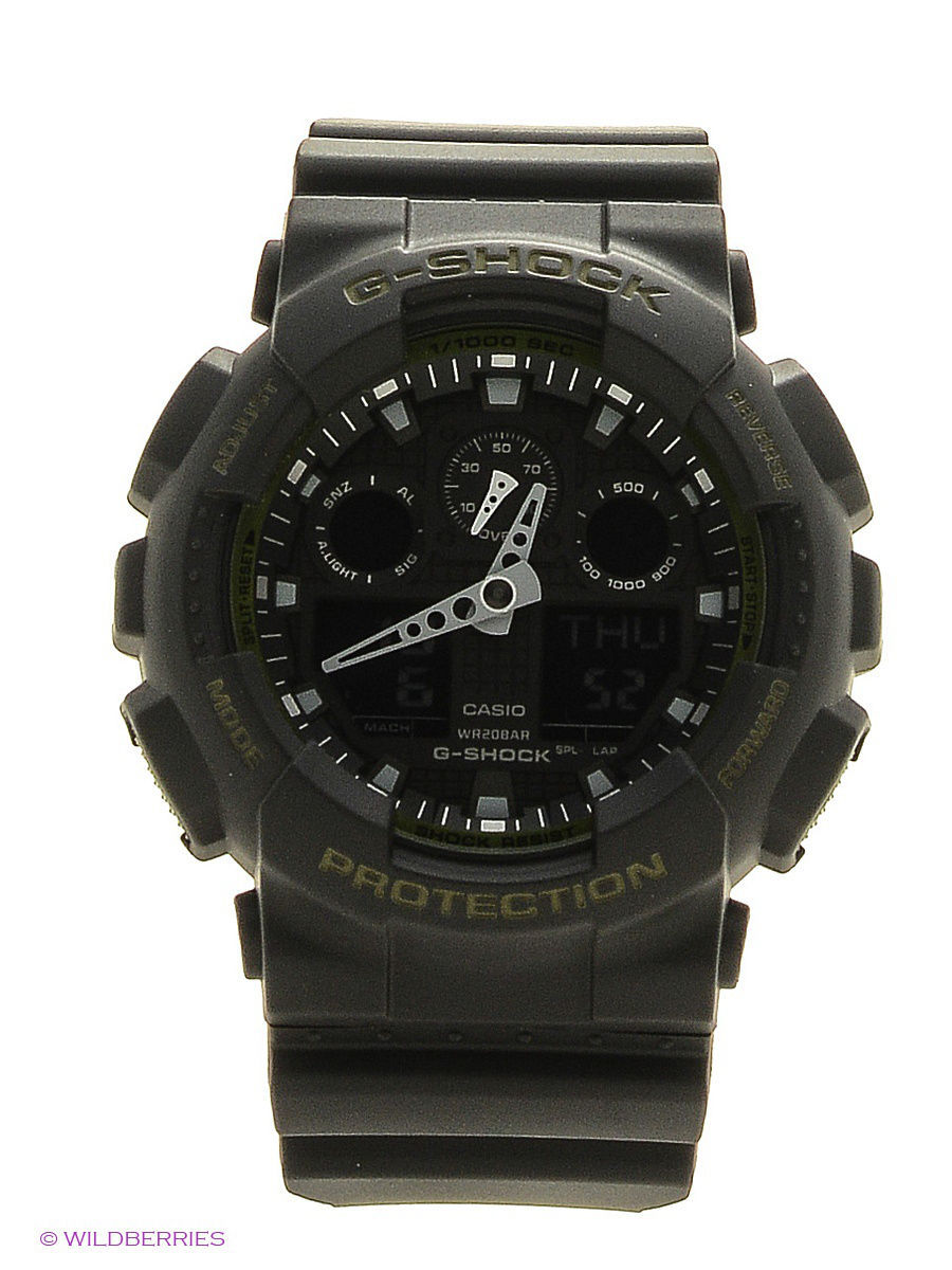 Часы наручные CASIO Часы G-Shock GA-100L-1A часы casio g shock ga 110mb 1a black