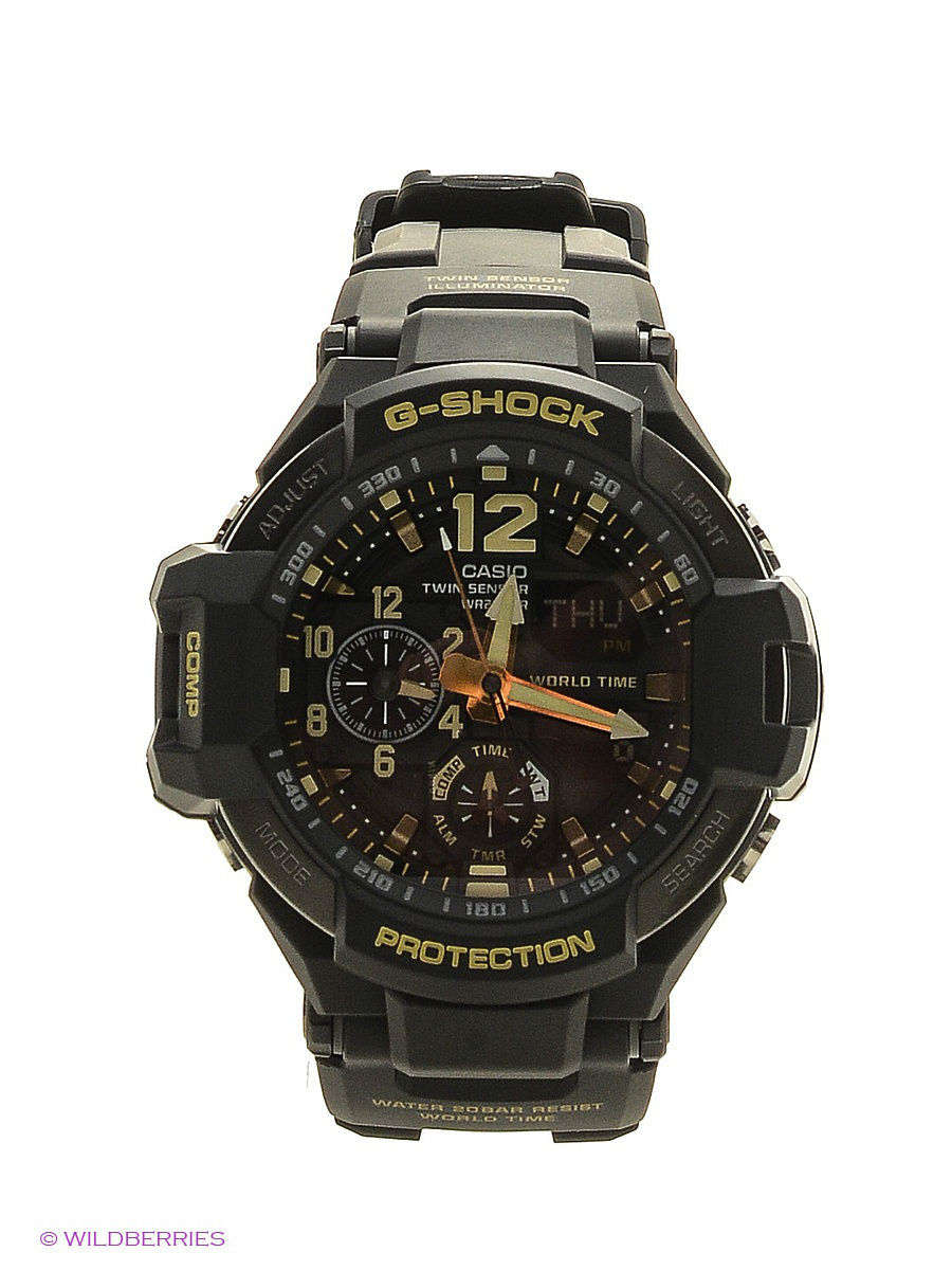 Часы наручные CASIO Часы G-Shock GA-1100GB-1A casio g shock ga 100l 1a