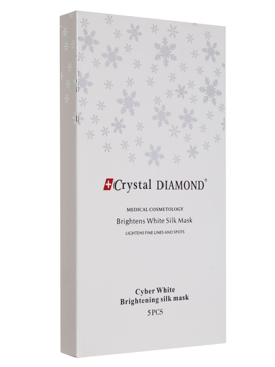 Тканевые маски и патчи Crystal DIAMOND Осветляющая шелковая маска павлово посадский шелк