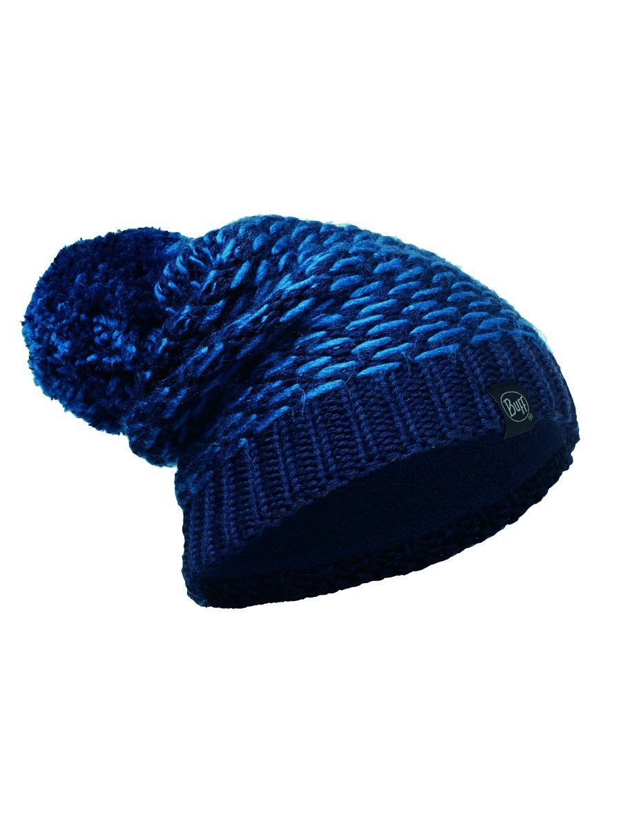 Шапки Buff Шапка BUFF 2016-17 KNITTED & POLAR HAT BUFF KIRVY DARK NAVY-DARK NAVY-Standard шапка buff polar solid