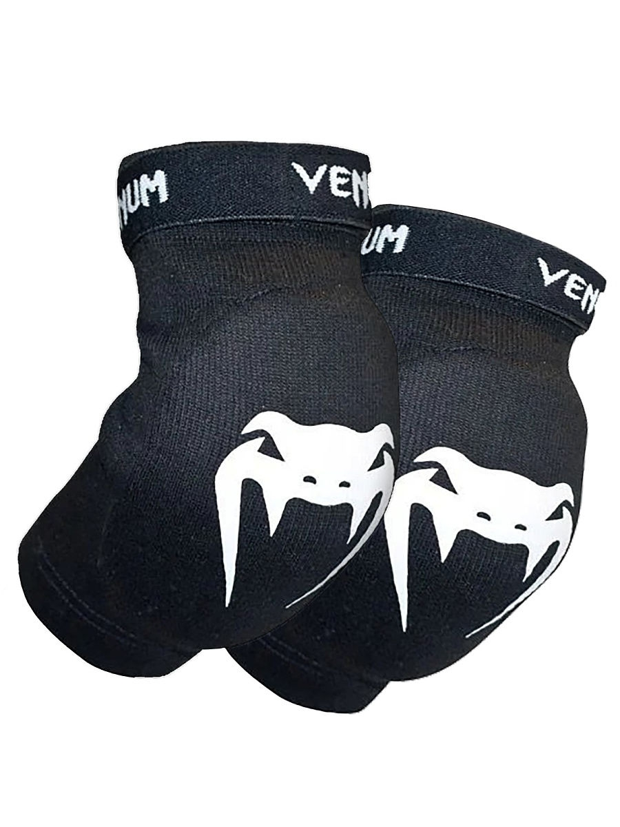 Защита Venum Налокотники Venum Kontact Elbow Protector - Cotton Black (пара)