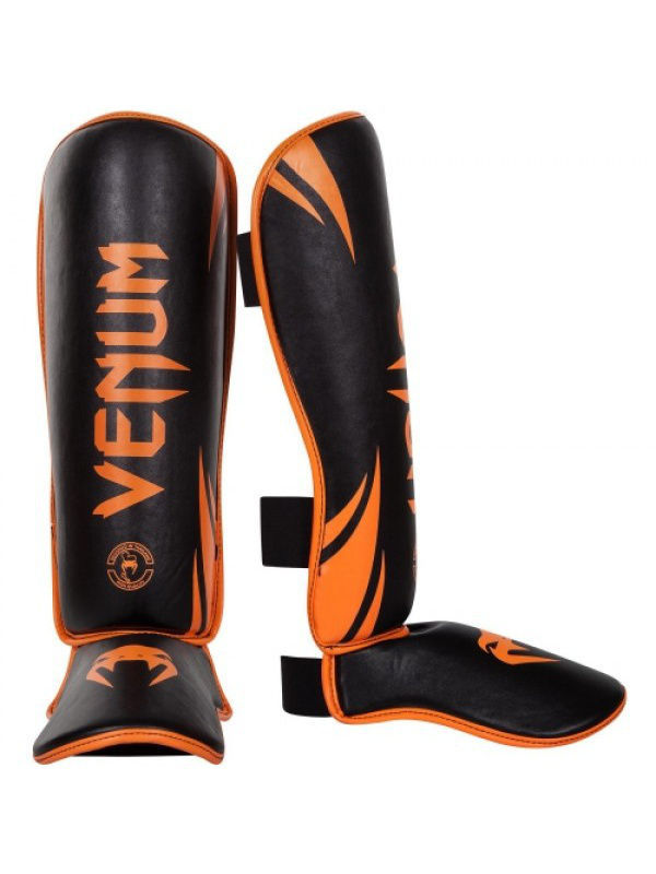 Щитки Venum Щитки Venum Challenger - Neo Orange/Black шлемы venum шлем боксерский venum challenger 2 0 neo orange black