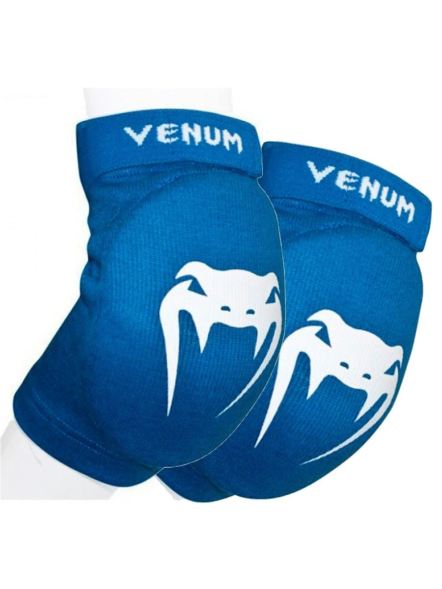 Налокотники Venum Налокотники Venum Kontact Elbow Protector - Cotton Blue (пара) пэды venum giant kick pads пара venum