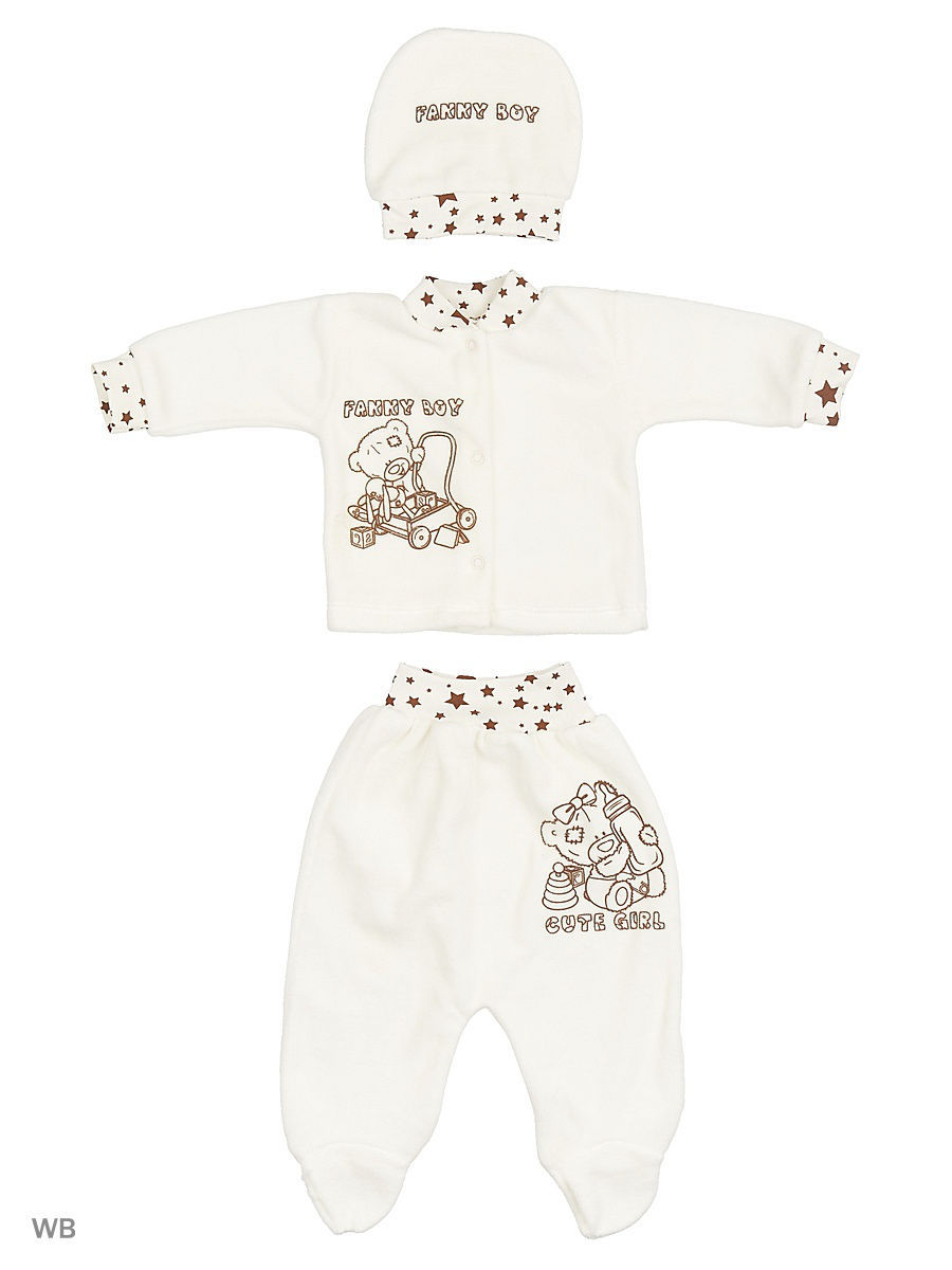 Костюм Babycollection 4MmdA3-KS211(e)-VL(b)/2/молочный