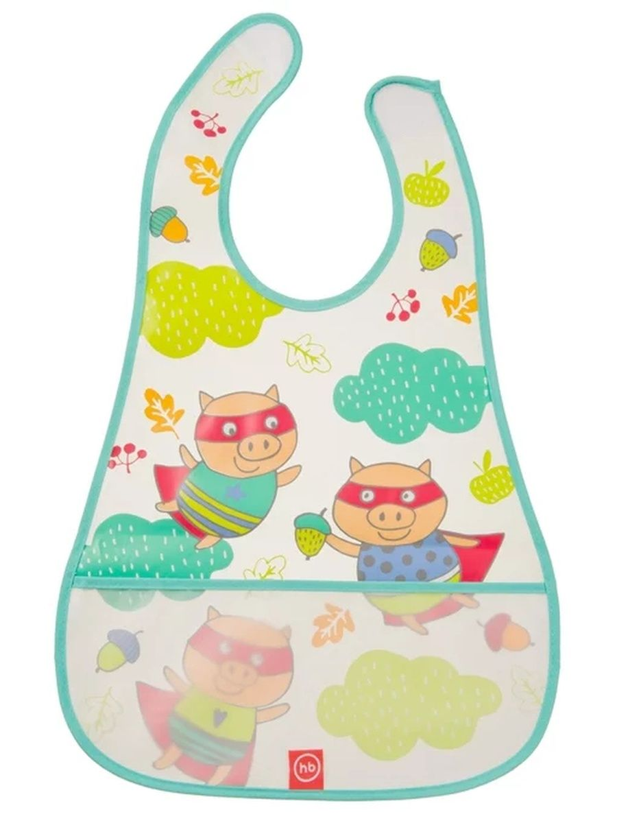 "Нагрудник на липучке ""WATERPROOF BABY BIB"" Happy Baby 16005/MINT"