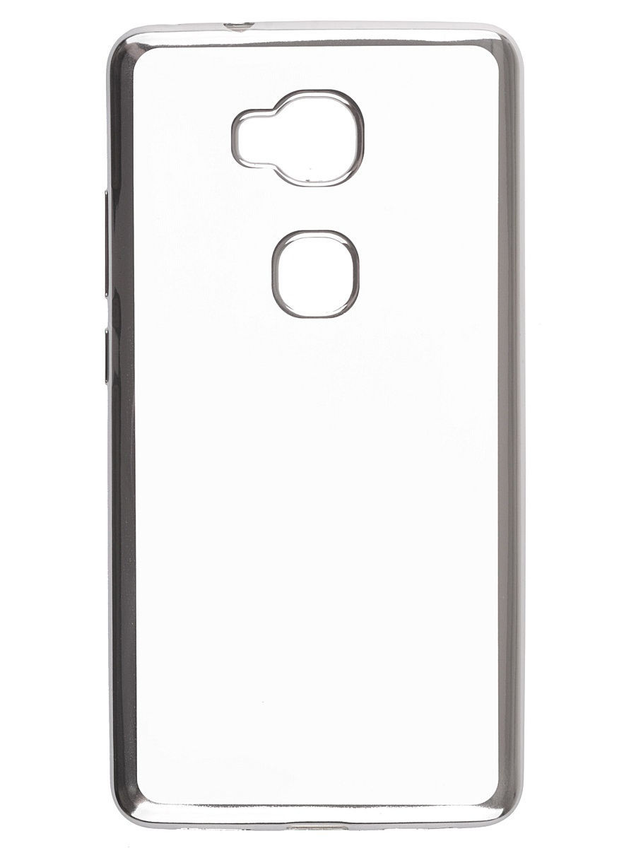 Накладка  skinBOX silicone chrome border 4People для Huawei Honor 5X.