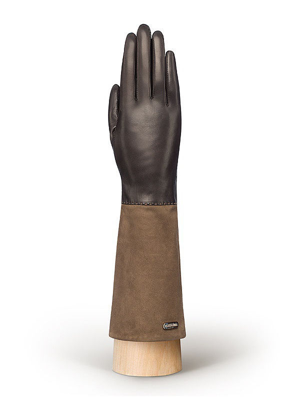 Женские перчатки Eleganzza TOUCHIS02059/d.brown/taupe