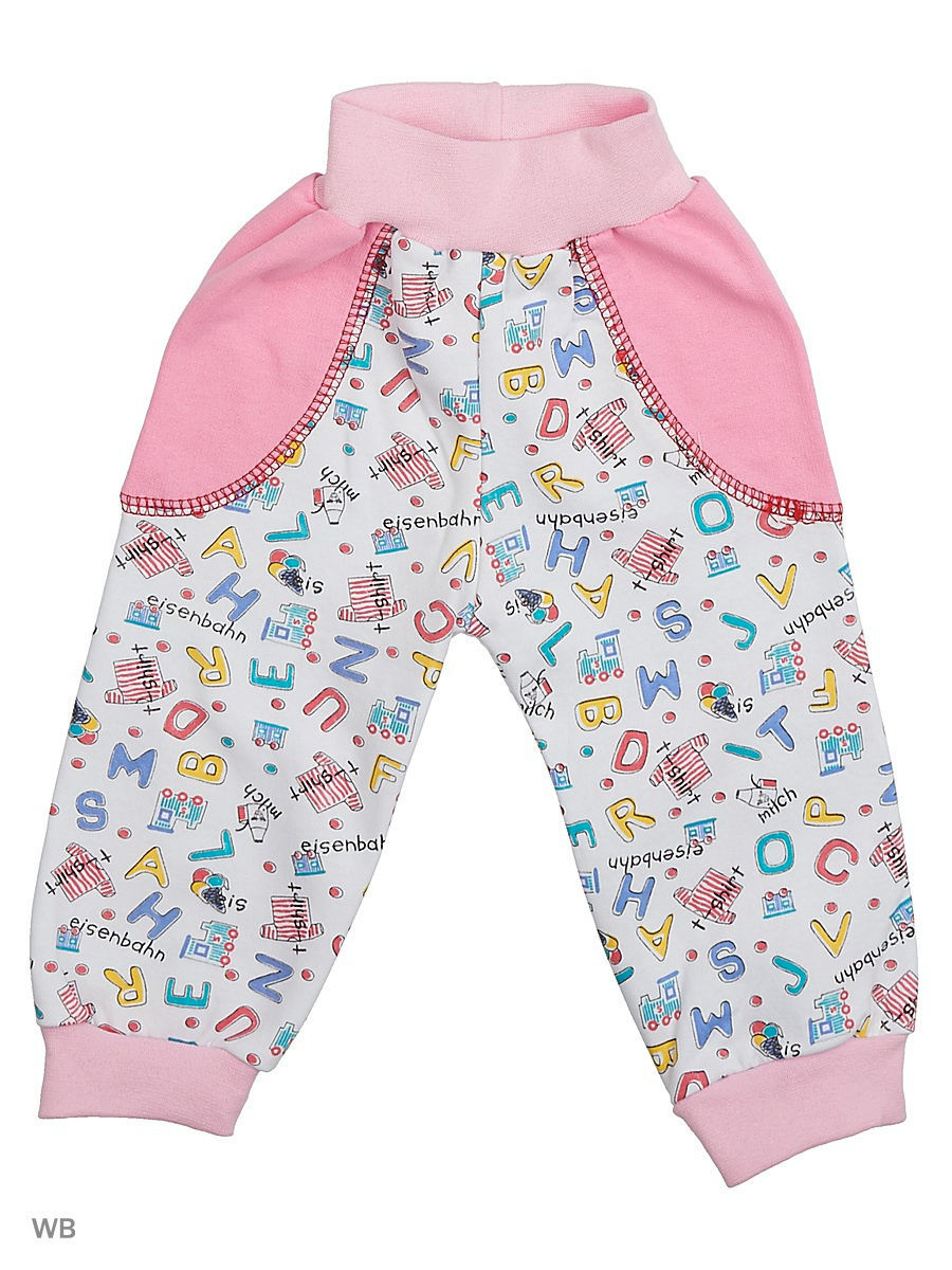 Брюки Babycollection 5MmZC-ST810-Itnk/d/розовый,белый