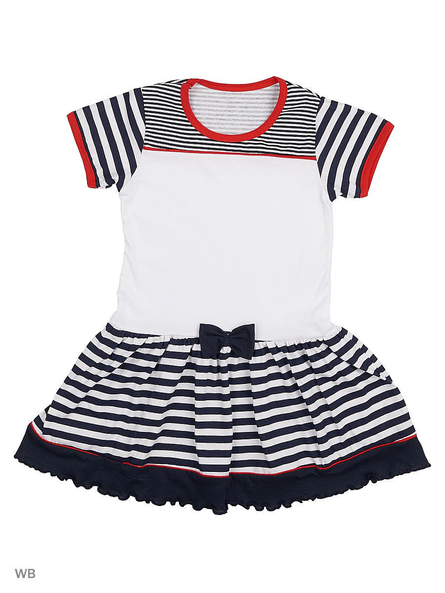 Платье Babycollection 3MAL-726/белый,синий