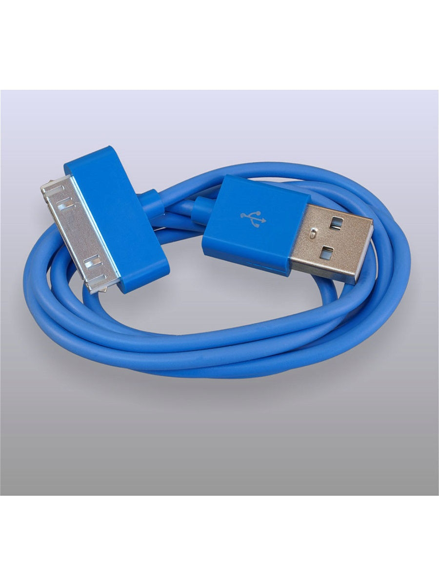 Usb кабель Pro Legend Iphone 4, 30 pin, 1м, голубой