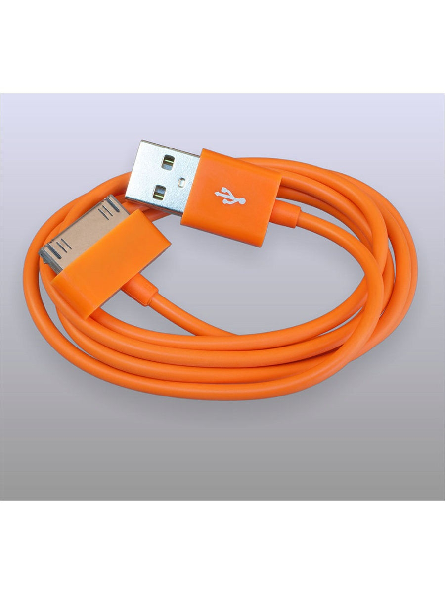 Usb кабель Pro Legend Iphone 4, 30 pin, 1м, оранжевый