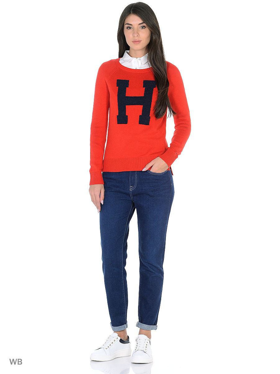 Джемперы Tommy Hilfiger Джемпер джемпер tommy hilfiger ww0ww16758 903 crimson snow white eclipse