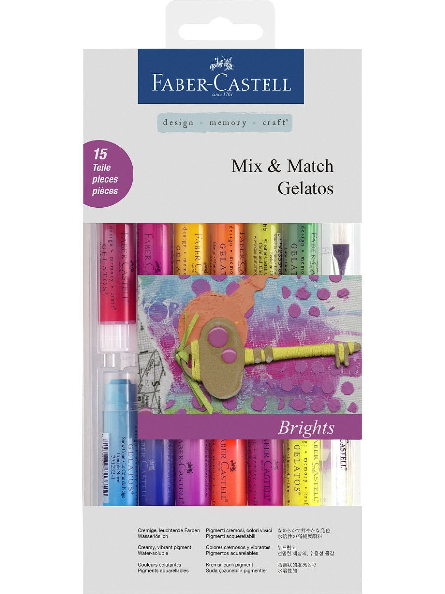 Мелки Faber-Castell Gelatos, в блистере, 15 шт. рюкзаки faber castell рюкзак