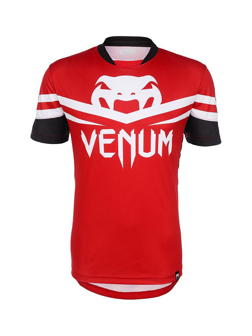 Футболка Venum Футболка Venum - Aldo UFC 163 Walk-Out Dry Fit - Red & Black футболка venum футболка venum tornado black cyan