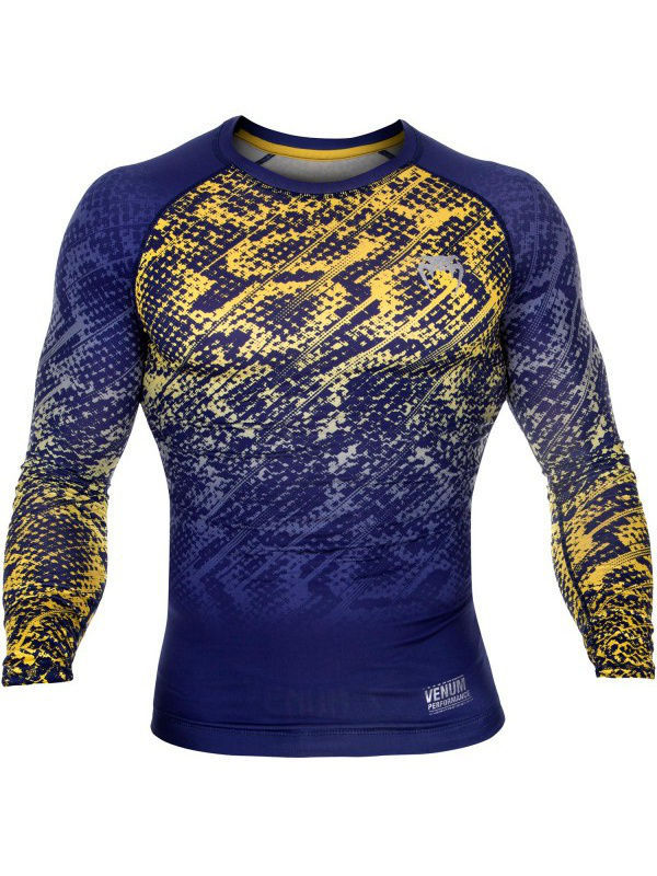 Лонгслив Venum Tropical Blue/Yellow L/S 78002