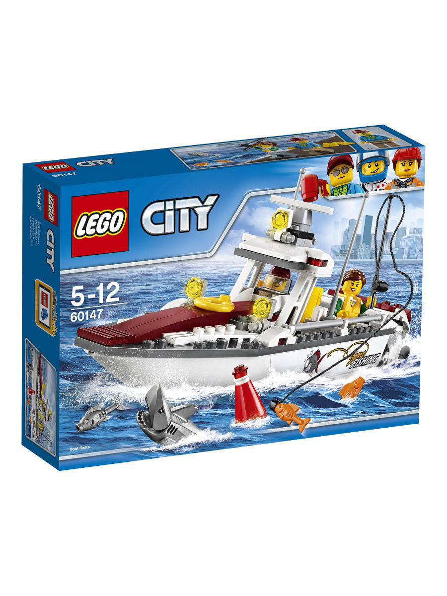 Конструкторы Lego LEGO City Great Vehicles Рыболовный катер 60147 конструкторы lego lego city побег в шине 60126