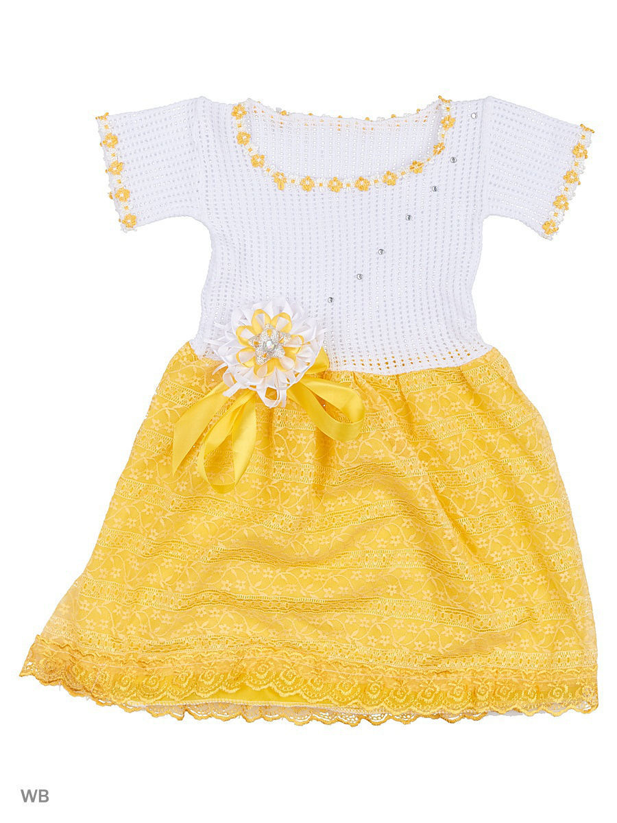 Платье Babycollection 5CR-196/3/желтый