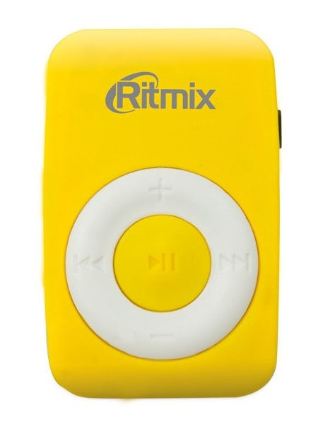 MP3 плееры Ritmix Плеер MP3 RITMIX RF-1010 Yellow mp3 плеер digma c2l