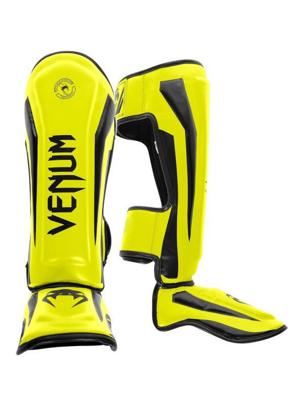 Щитки Venum Щитки Venum Elite Neo Yellow шлем боксерский venum elite headgear 100% premium leather