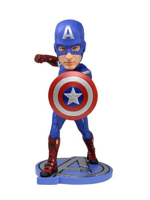 Фигурки Neca Фигурка Avengers 7 Captain America Headknocker фигурки neca фигурка robocop vs the terminator 7 endoskeleton 2 pack