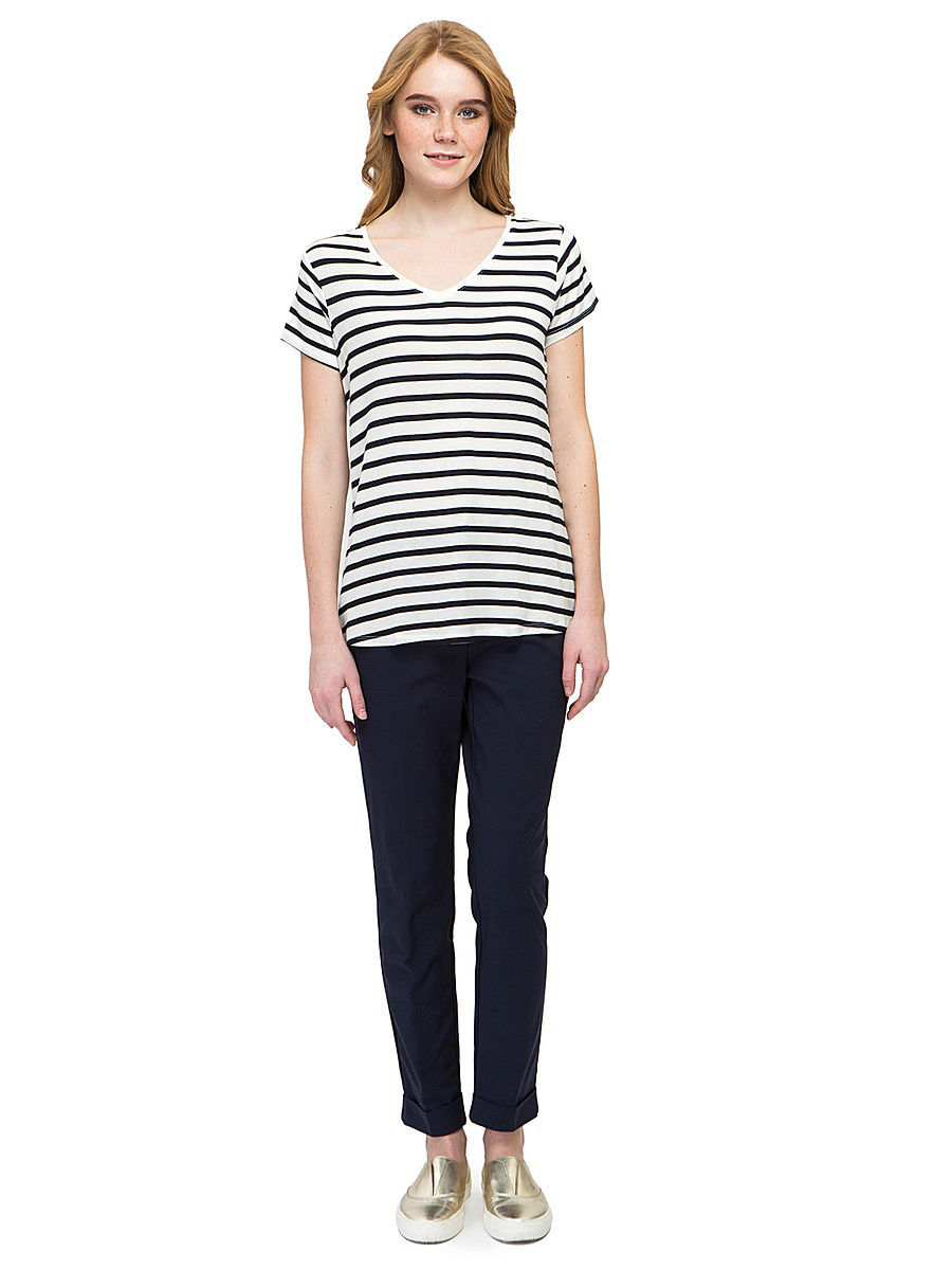 Футболка Baon (Баон) B237063/MILK-DARKNAVYSTRIPED