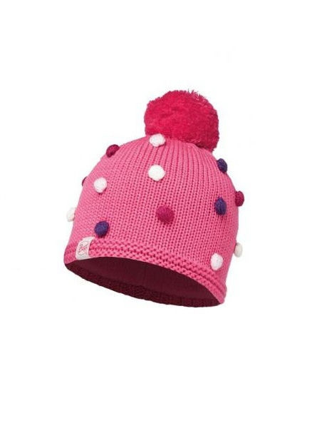 Шапки Buff Шапка BUFF 2016-17 KNITTED KIDS COLLECTION CHILD KNITTED & POLAR HAT BUFF ODELL IBIS ROSE шапка buff polar solid