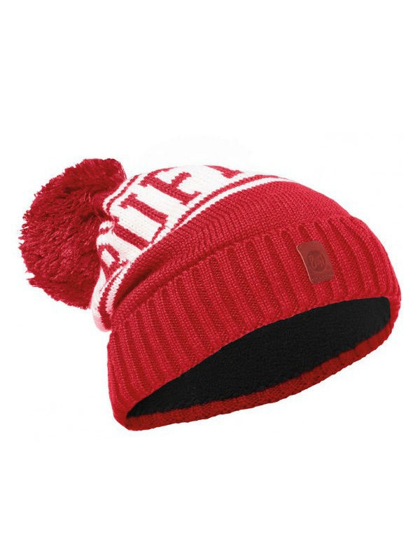 Шапки Buff Шапка BUFF 2016-17 JUNIOR KNITTED & POLAR HAT BUFF SHIKO RED-RED-Standard (US:ONE SIZE) шапка buff polar solid